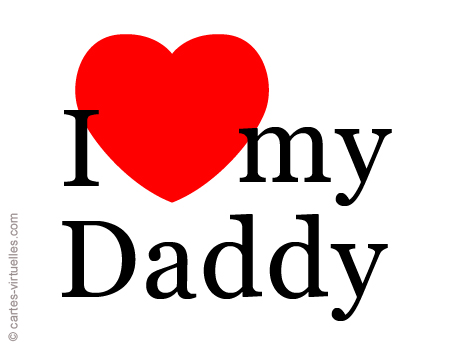 carte I love my Daddy