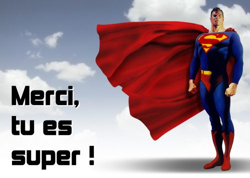 carte Merci, tu es super !