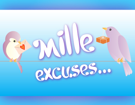carte Mille excuses